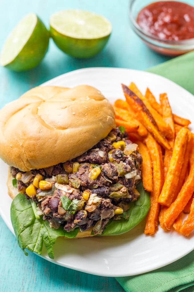Veggie burger scramble is a quick and easy one-pan dinner that's vegan, gluten free and ready in about 20 minutes!   www.familyfoodonthetable.com