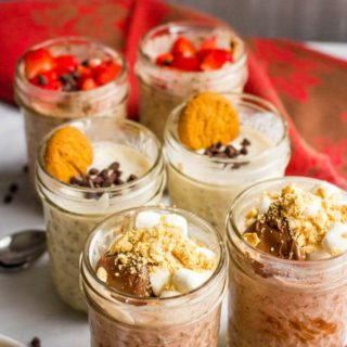 Chocolate overnight oats, 3 ways