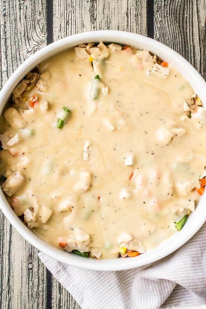 Easy healthy chicken pot pie   www.familyfoodonthetable.com