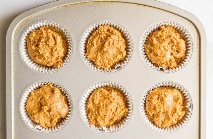 Healthy peanut butter and jelly muffins are whole wheat and naturally sweetened! | www.familyfoodonthetable.com