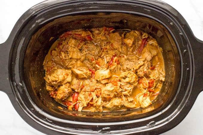 Easy slow cooker Thai pork dinner