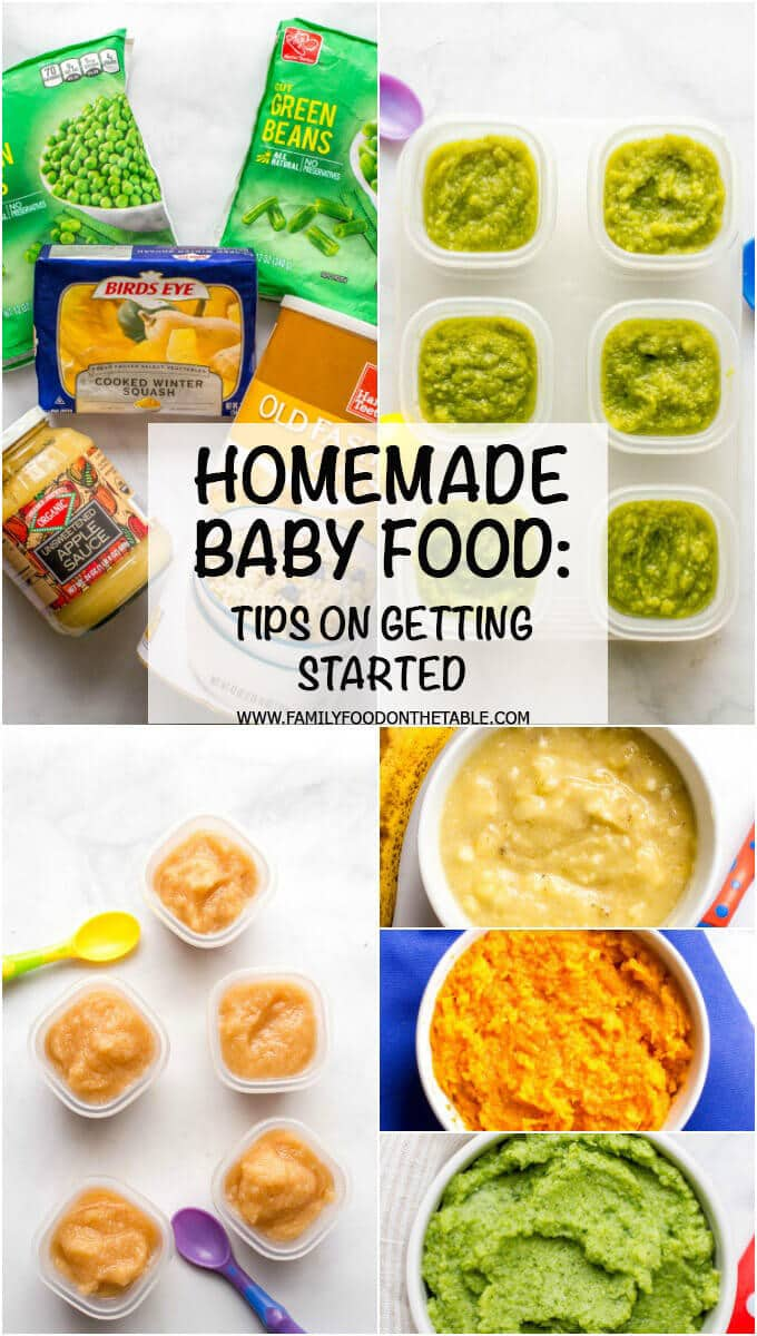 Homemade Baby Food can be so easy to make! Check out these tips for getting started, some beginner baby foods and our favorite combinations and recipes!