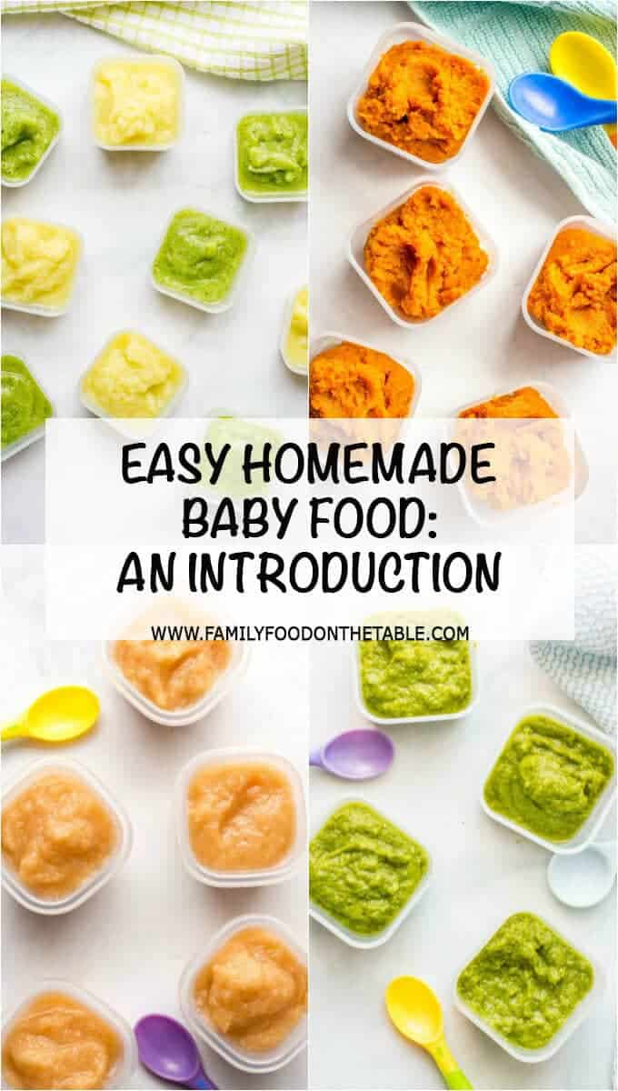 Homemade baby food can be so easy to make! Check out these tips for how to get started! | www.familyfoodonthetable.com