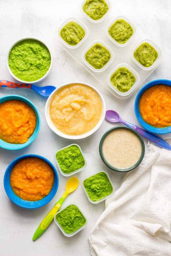 Homemade baby food peas green beans applesauce butternut squash homemade baby food make 5 easy beginner foods in just 20 minutes peas forumfinder Gallery