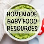 Homemade baby food resources - tons of tips on getting started with making homemade baby food!