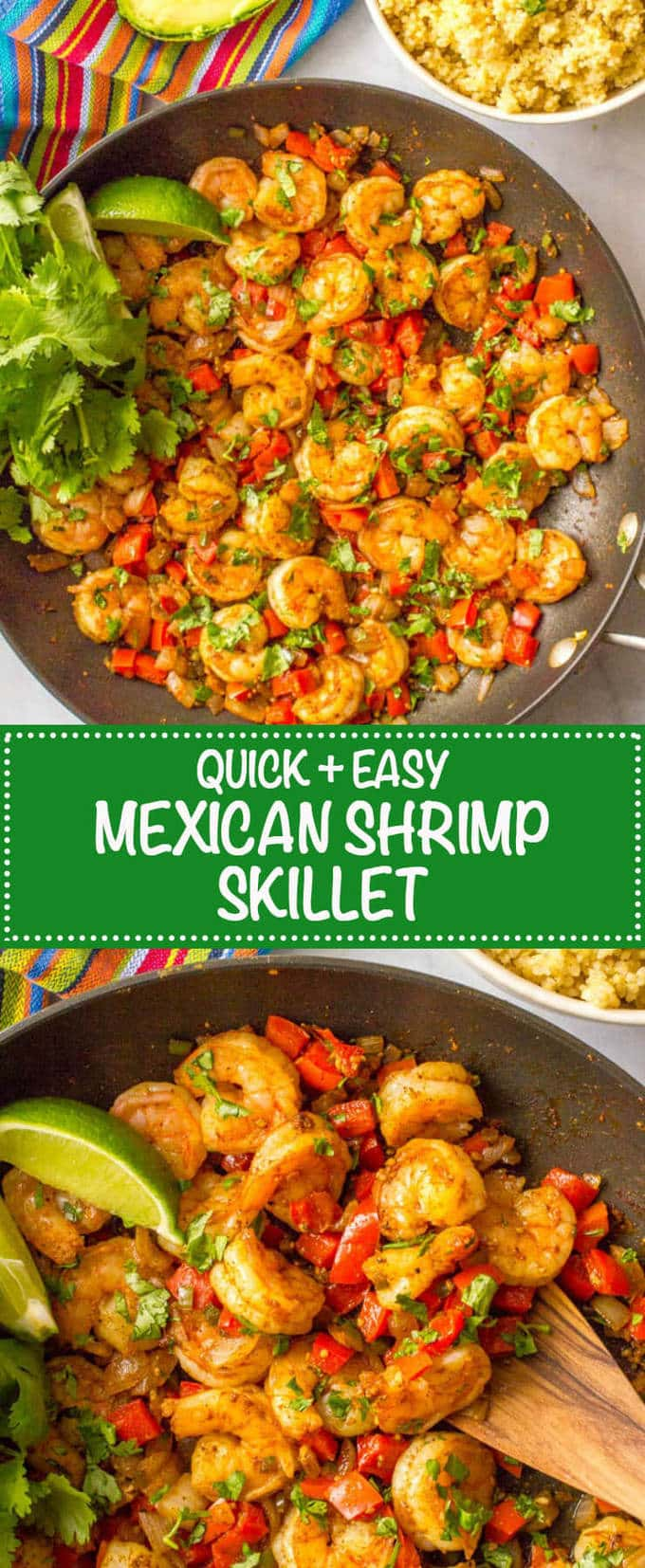 Quick Easy Mexican Shrimp Skillet Video Family