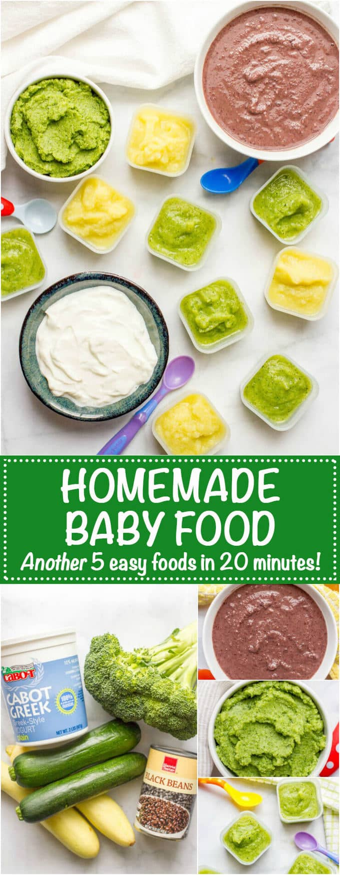 Homemade baby food broccoli zucchini squash black beans and homemade baby food easy how to for broccoli zucchini squash black forumfinder Gallery