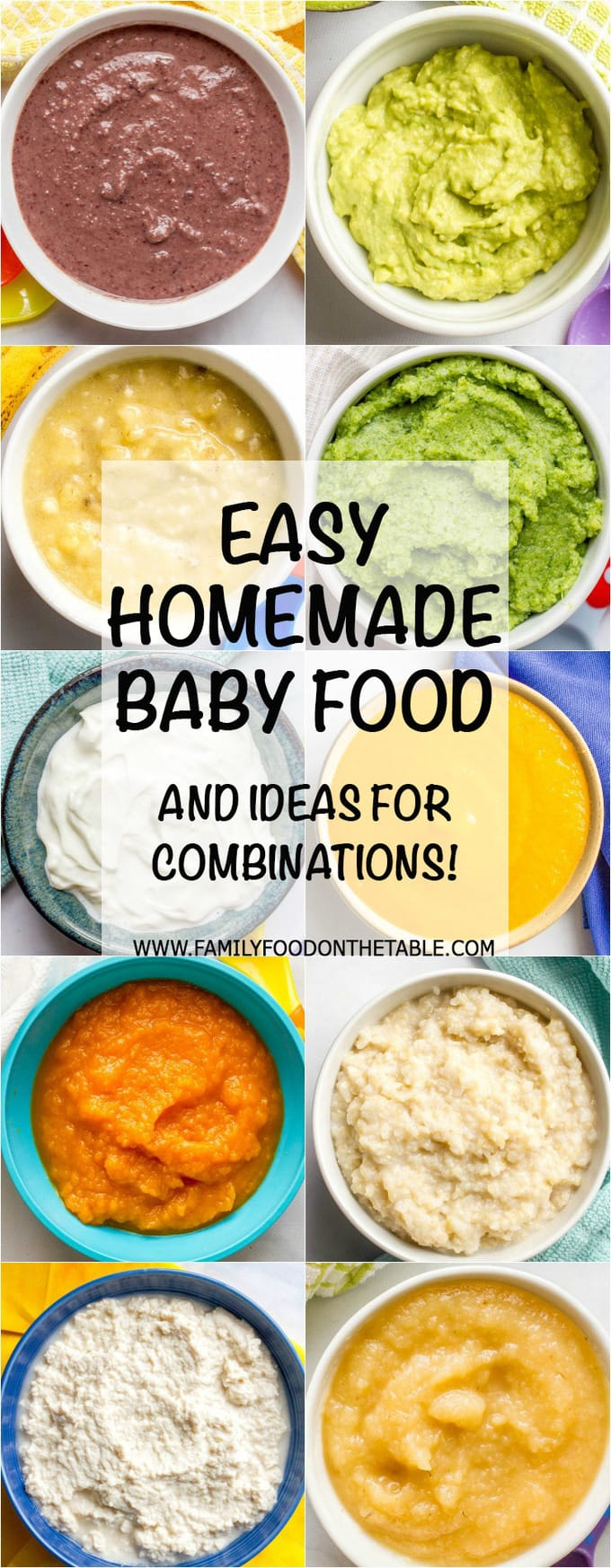 Homemade baby food combinations family food on the table tons of ideas for easy homemade baby food combinations both the basics for beginners and forumfinder