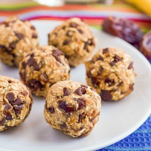 No bake chocolate chip cookie balls