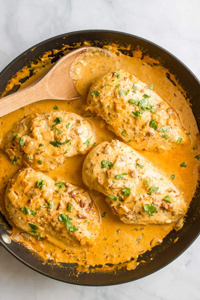 Creamy chipotle chicken recipe - easy, one-pan, 30-minute dinner
