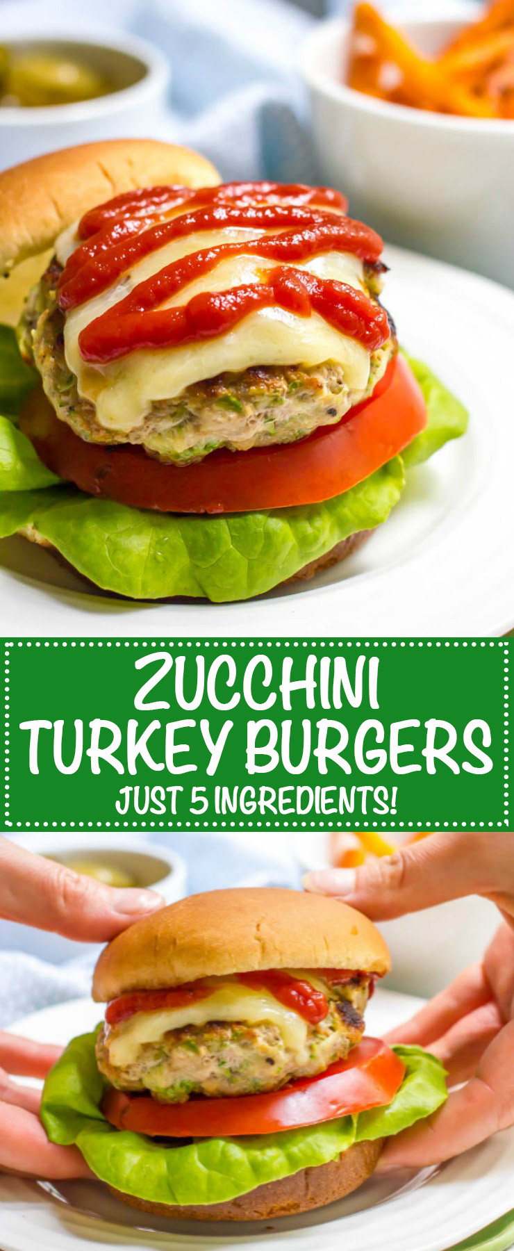 Zucchini turkey burgers are just 5 basic ingredients and come out so juicy and flavorful - perfect for an easy dinner! | www.familyfoodonthetable