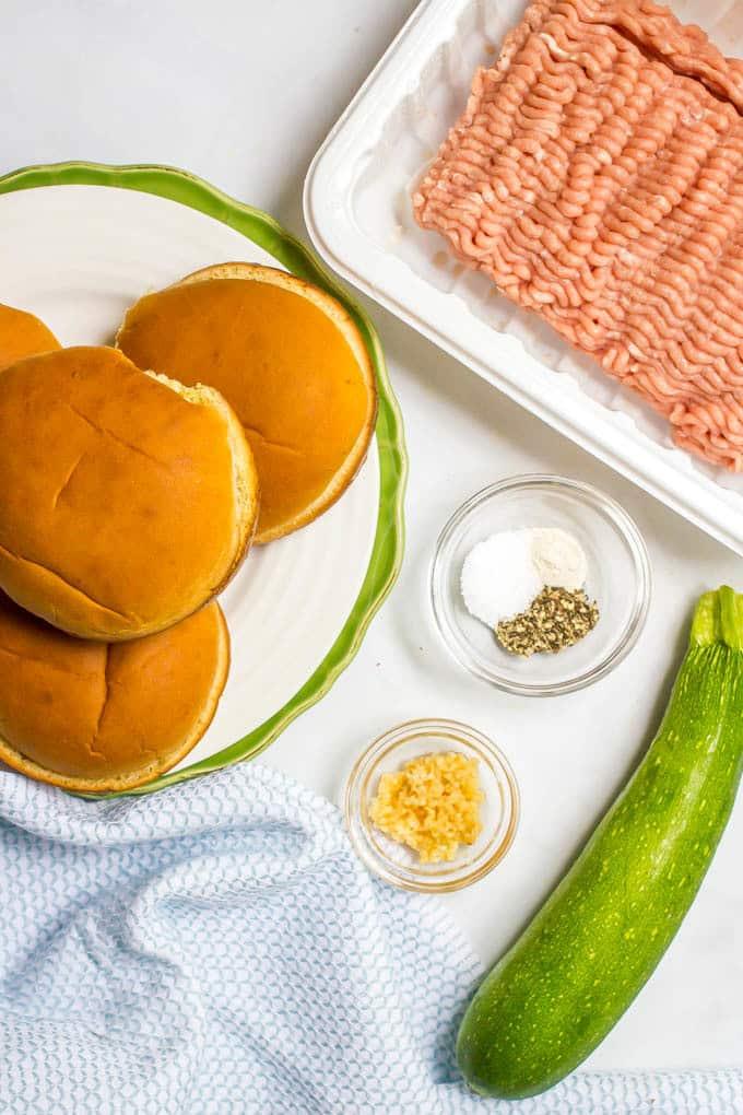 Zucchini turkey burgers recipe ingredients
