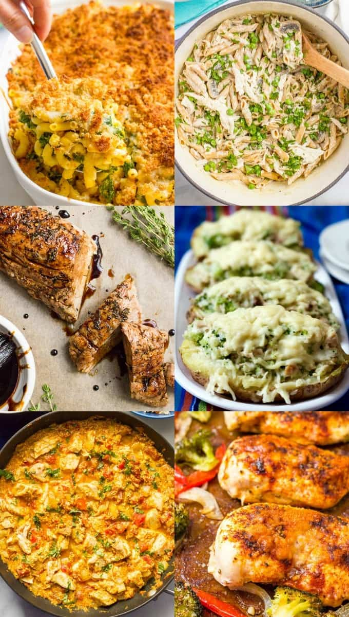 A full month of easy healthy family dinner ideas to spark some new dinner inspiration, plus a printable calendar and tons of recipes to try! | www.familyfoodonthetable.com