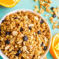 Healthy citrus granola