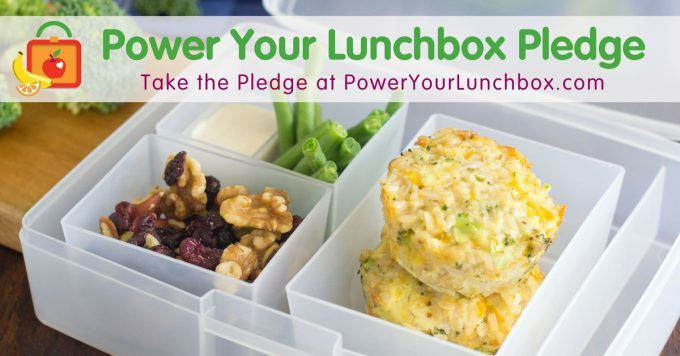 Power Your Lunchbox Pledge with packed school lunch