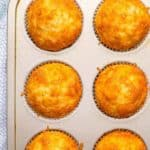 Easy cheesy cornbread muffins (+ video)