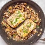 Garlic butter pork chops with lemon
