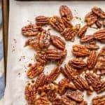 Sweet and spicy pecans with maple syrup