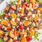 Mixed greens salad with fruit