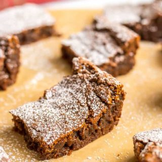 Whole wheat gingerbread cookie bars