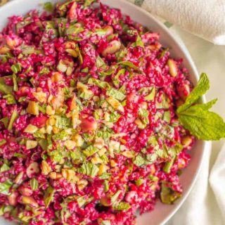 Spiralized beet quinoa salad
