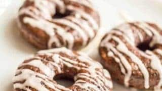 Whole wheat chocolate baked donuts