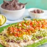 Healthy 7-layer Mexican dip