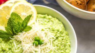 Healthy pea dip {6 ingredients}
