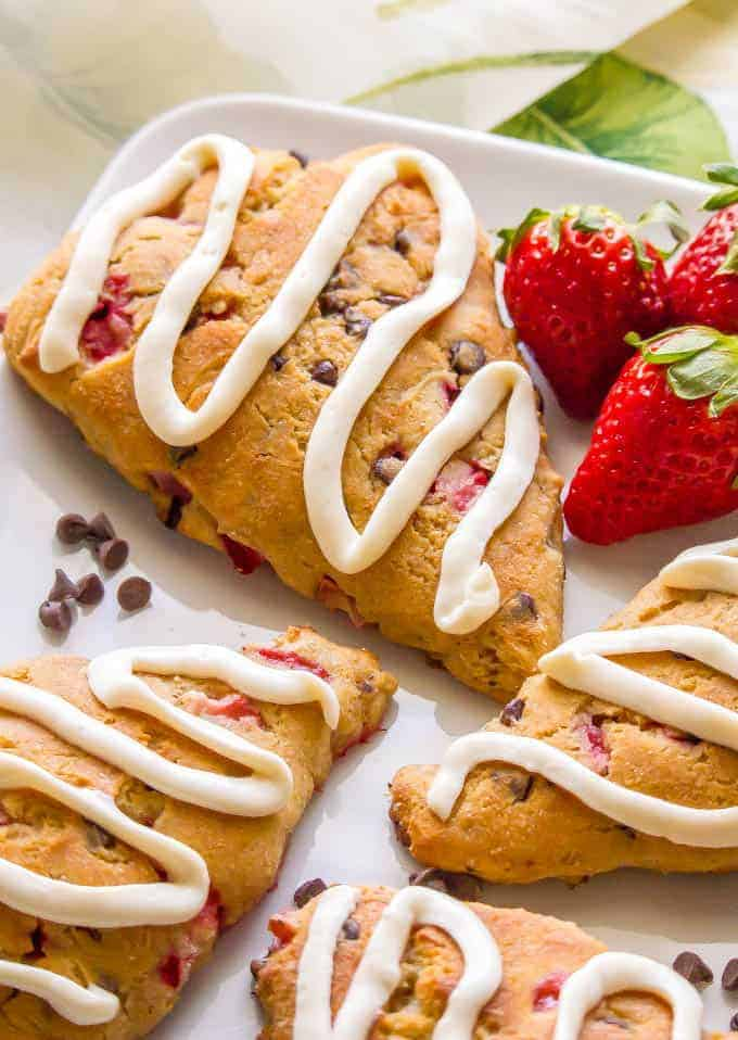 Healthy Strawberry Scones Family Food On The Table
