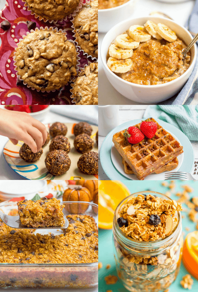 A collection of healthy oatmeal recipes, including sweet and savory breakfast and brunch options as well as delicious, wholesome snacks and desserts. | www.familyfoodonthetable.com