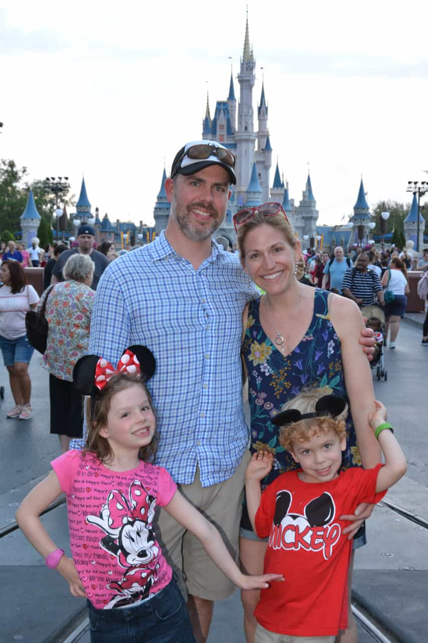 Family picture at Disney World
