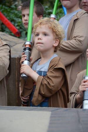 Little boy photo at Star Wars training in Disney World