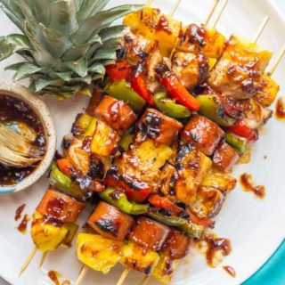 Teriyaki chicken pineapple kabobs