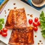Easy BBQ salmon