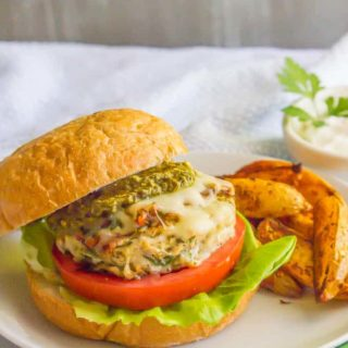 Chicken spinach burgers