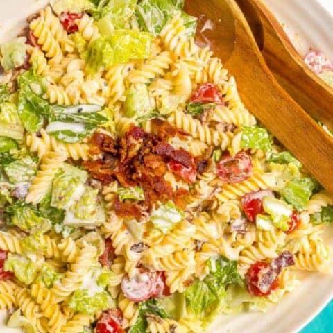 Creamy BLT pasta salad