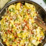 Yellow squash and corn medley
