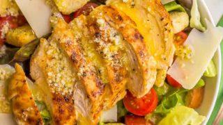 Easy chicken Caesar salad
