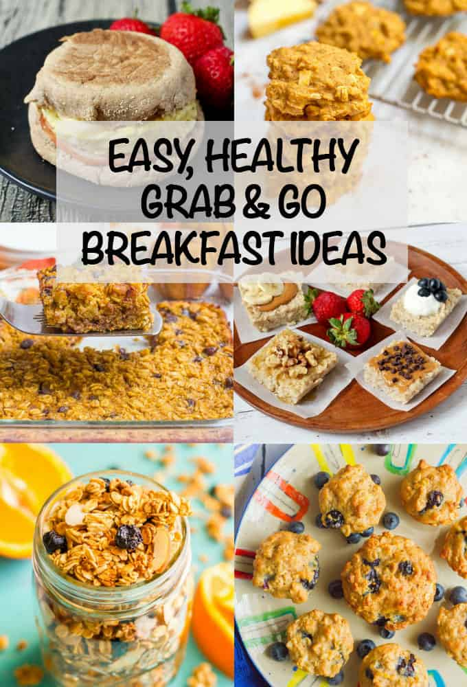 Check out these easy, healthy grab-and-go breakfast ideas for some new delicious foods to fuel you on busy mornings! #breakfast #recipes