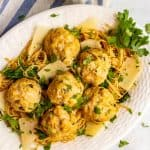 Spinach artichoke chicken meatballs