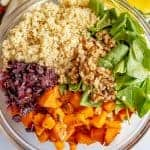 Butternut squash salad with quinoa