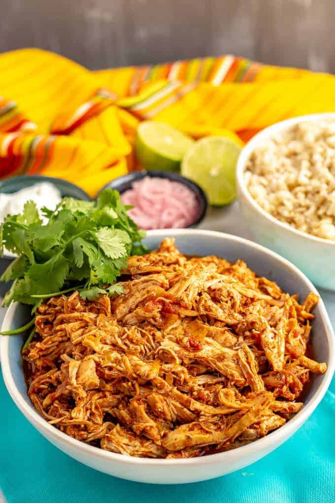 Slow Cooker Mexican Shredded Chicken 3 Ingredients Family Food On The Table
