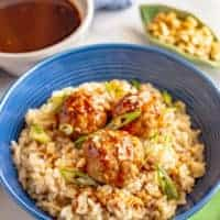 Baked Asian turkey meatballs