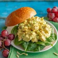 Healthy curry chicken salad