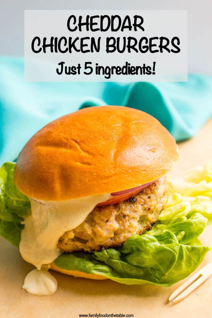 Cheddar Chicken Burgers Video Family Food On The Table
