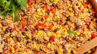 Turkey taco rice skillet