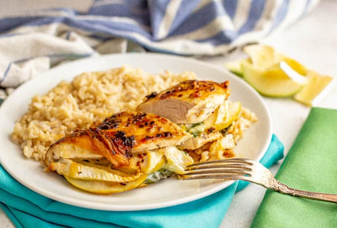 Apple And Brie Stuffed Chicken Family Food On The Table