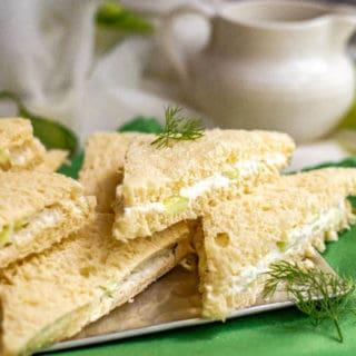 Classic cucumber tea sandwiches