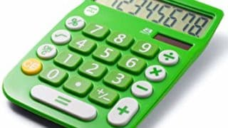 Office+Style A2DESKTOPGREEN 8 Digit Dual Powered Desktop Calculator, LCD Display, Green