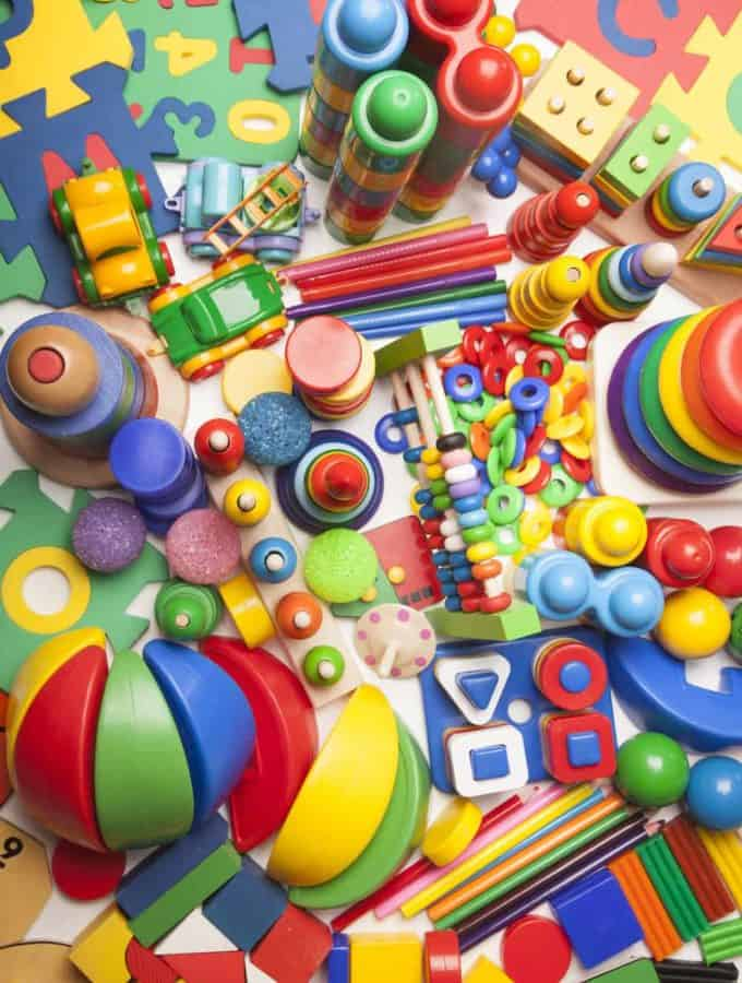 Tons and tons of colorful toys and games for children